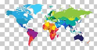 World Map Wall Decal Globe PNG