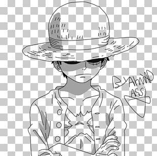 Monkey D. Luffy Line Art Manga Drawing Comics PNG