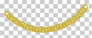 Necklace Gold Chain PNG