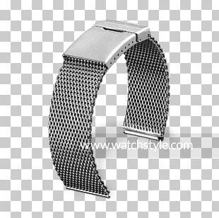 Steel Bracelet Watch Strap Metal Pforzheim PNG