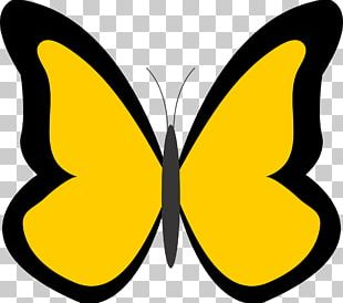 Butterfly Free Content Yellow PNG