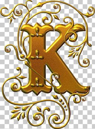 Letter Alphabet K Illuminated Manuscript PNG
