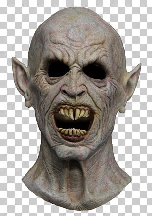 Latex Mask Halloween Costume Vampire Ghoul PNG