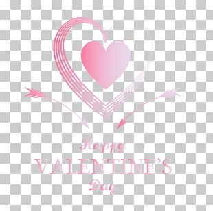 Logo Pink Heart Valentine's Day Font PNG