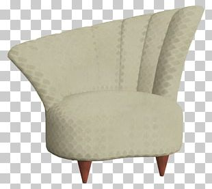 Club Chair Couch Angle Khaki PNG