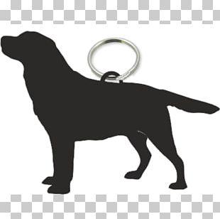 Labrador Retriever Puppy Silhouette Stencil PNG