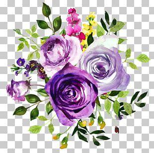 Flower Purple Watercolor Painting Violet PNG