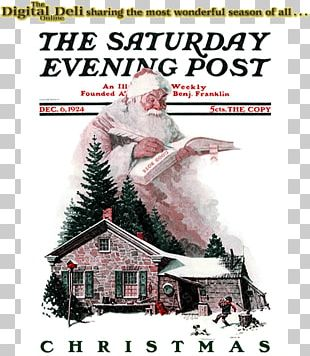 Santa Claus The Saturday Evening Post War News Magazine A Visit From St. Nicholas PNG