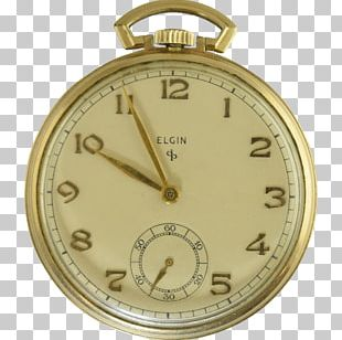 Pocket Watch Clock Elgin National Watch Company Gold-filled Jewelry PNG
