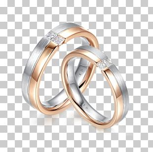 Wedding Ring Diamond Marriage Colored Gold PNG