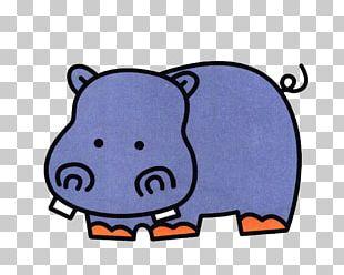Hippopotamus Painting Child Cartoon Stroke PNG