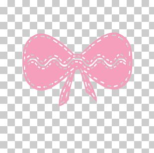 Bow Tie Pink M Line RTV Pink Font PNG