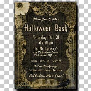 Wedding Invitation Halloween Convite Party PNG