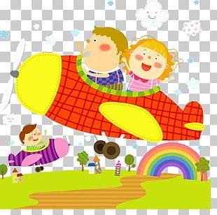 Airplane Aircraft Child PNG