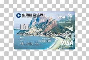 China Construction Bank Credit Card Visa MasterCard PNG