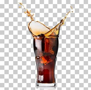 Fizzy Drinks Coca-Cola Rum And Coke Ice Cube PNG