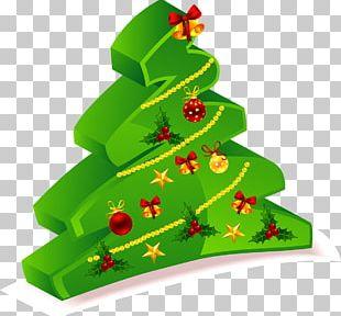 Santa Claus Christmas Card Christmas Tree PNG