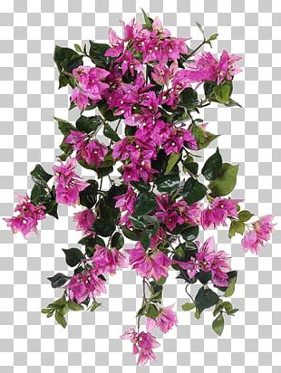 Azalea Bougainvillea Artificial Flower Shrub PNG