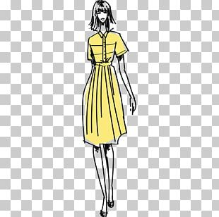 Fashion Illustration Model Drawing PNG