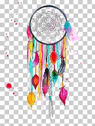 Dreamcatcher Art Watercolor Painting Drawing PNG