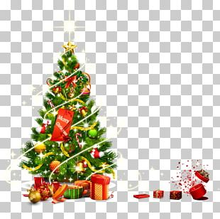 Santa Claus Christmas Tree Christmas Ornament Gift PNG