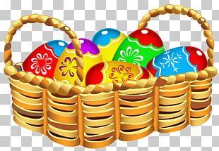 Easter Bunny Easter Cake Basket PNG