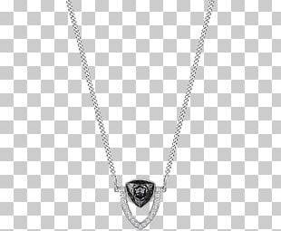 Locket Necklace Chain Jewellery Rhodium PNG
