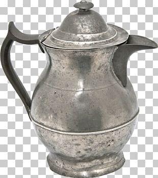 Jug Teapot English Pewter Kettle PNG