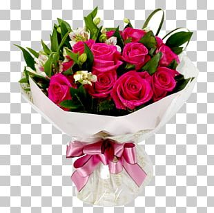 Flower Bouquet Rose Pink Floristry PNG
