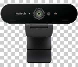 Logitech BRIO 4K Ultra HD Webcam Ultra-high-definition Television 4K Resolution Camera PNG