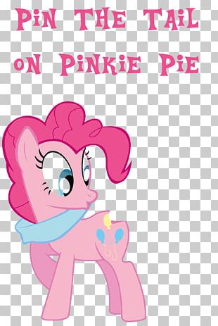 Pinkie Pie Pony Rainbow Dash Pin The Tail On The Donkey Piñata PNG