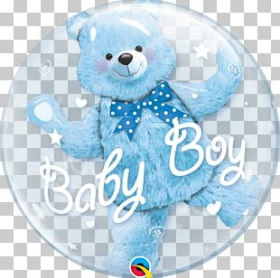 Balloon Bear Baby Shower Party Birthday PNG