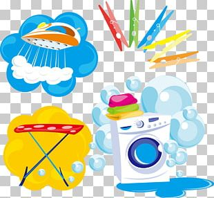 Washing Machine Laundry Clothes Iron Clothing PNG