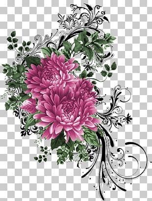Painting Flower Floral Design Pattern PNG