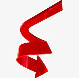 Red Spiral Arrow PNG