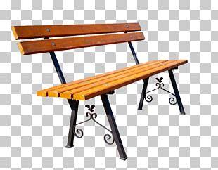 Table Bench Garden Armrest Cast Iron PNG