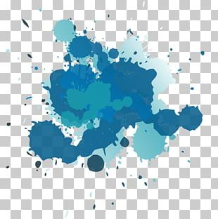 Watercolor Painting Blue PNG