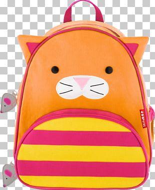 Skip Hop Zoo Little Kid Backpack Skip Hop Forget Me Not Backpack & Lunch Bag Set Pink Cat PNG