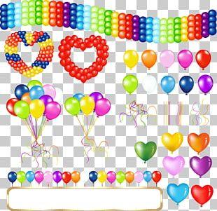 Hot Air Balloon Birthday Greeting Card PNG