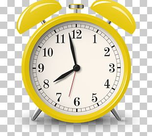 Alarm Clock Yellow Alarm Device PNG