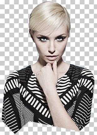 Hair Coloring Pixie Cut Blond Hairdresser Asymmetric Cut PNG