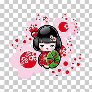 Sticker Wall Decal Japan Paper Kokeshi PNG