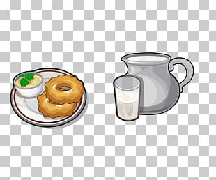 Coffee Tea Doughnut Breakfast Milk PNG