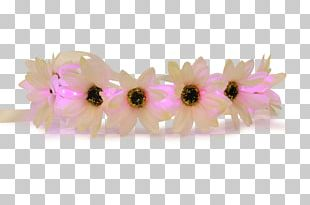 Light Flower Crown Wreath Headband PNG