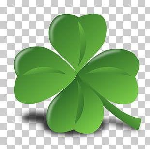 Ireland Saint Patrick's Day Shamrock Four-leaf Clover PNG