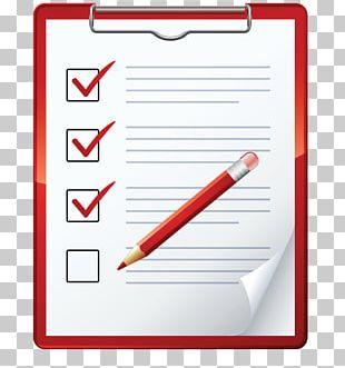 Checklist Check Sheet Business Management PNG