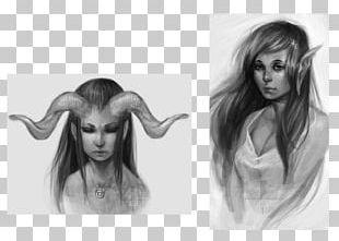 Long Hair Hair Coloring Drawing Sketch PNG