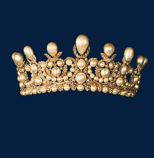 Gold Pearl Crown PNG