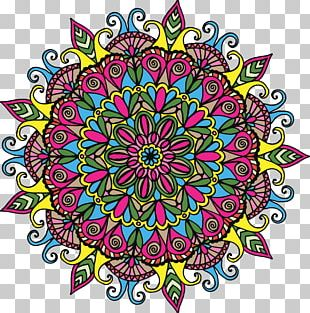 Mandala Drawing Coloring Book PNG