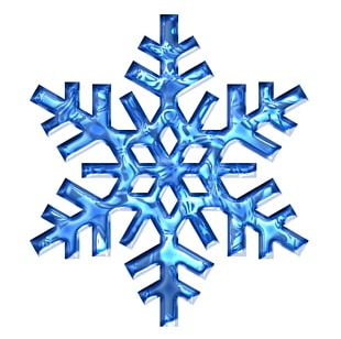 Snowflake Blue Ice PNG